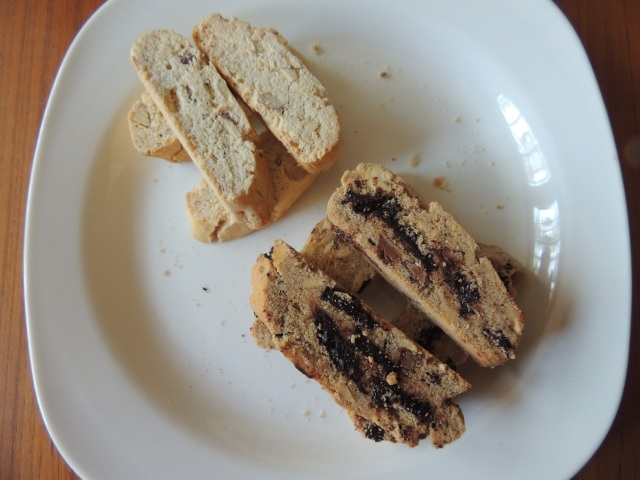 Gluten-free Biscotti: (top) Almond - (bottom) Peanut Butter Chocolate